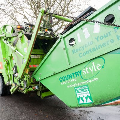 Countrystyle provide specialist bins for the collection of plastics from local residents in Tonbridge & Malling