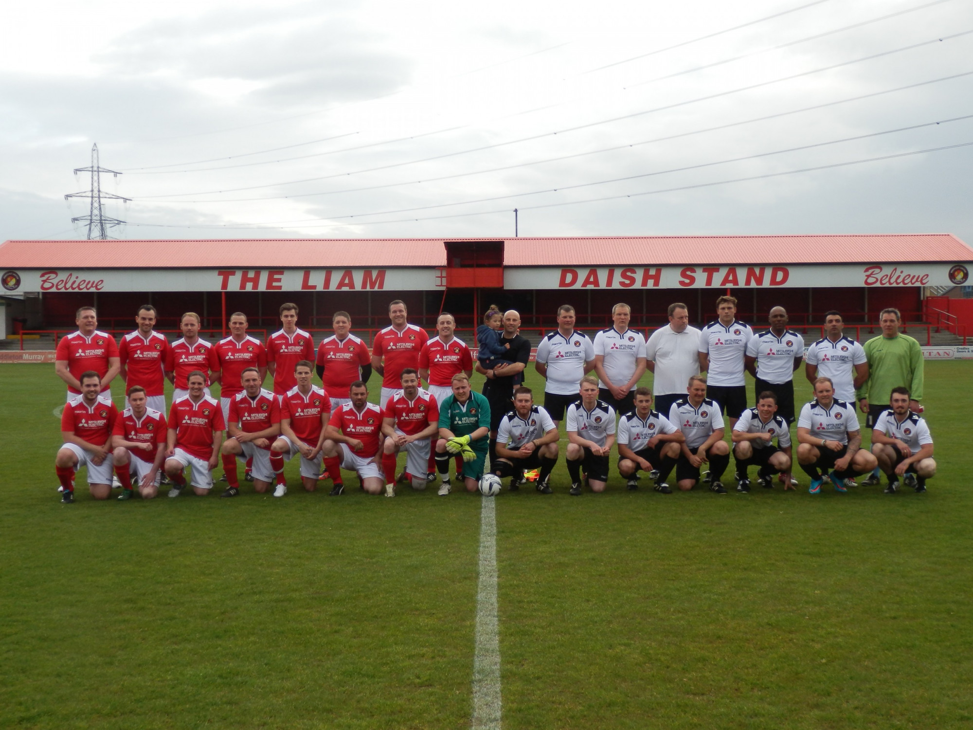 Through a charity football match Countrystyle and Bam Nuttall raise money for Help the Heros