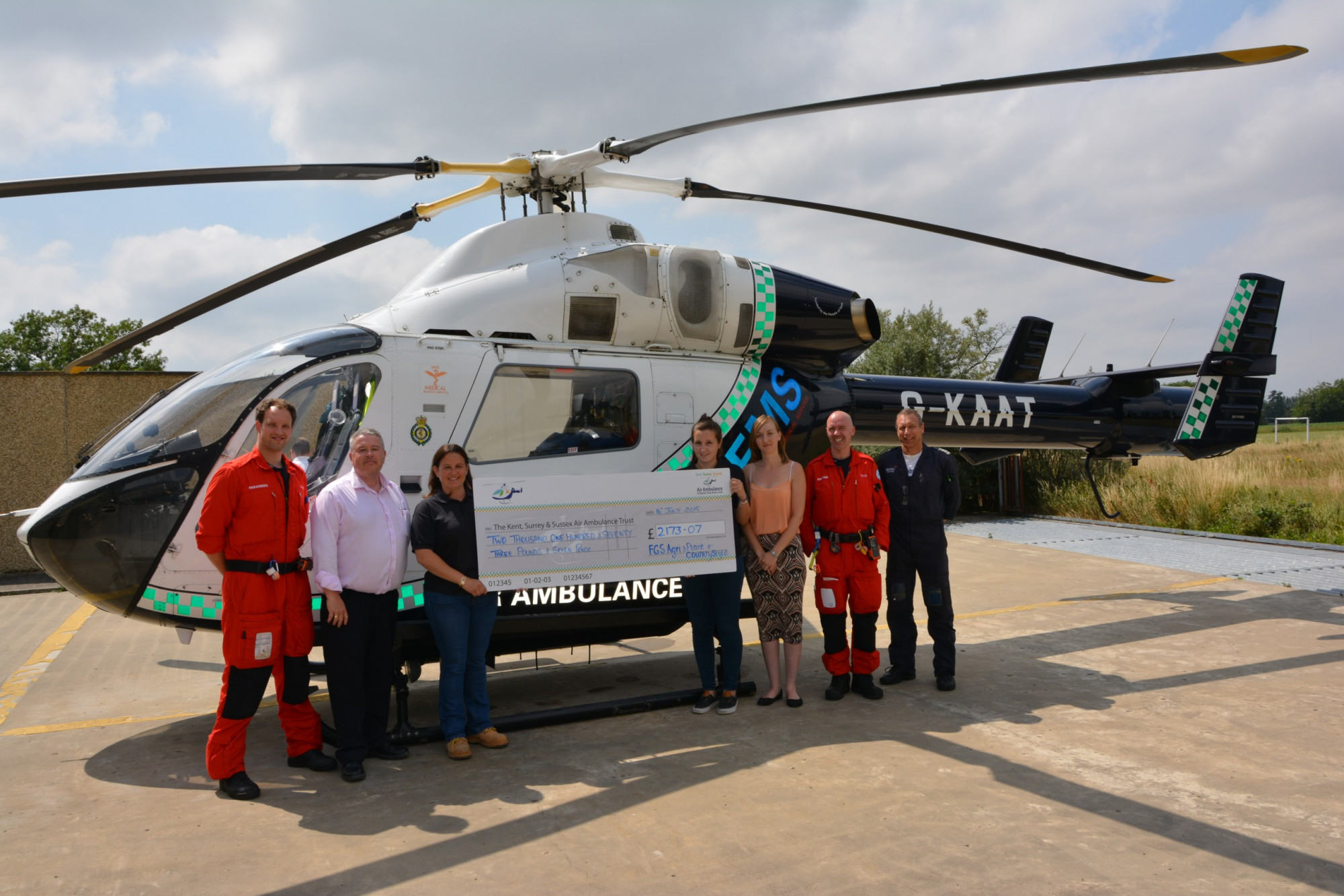 Countrystyle and FGS donate money to the Kent Air Ambulance