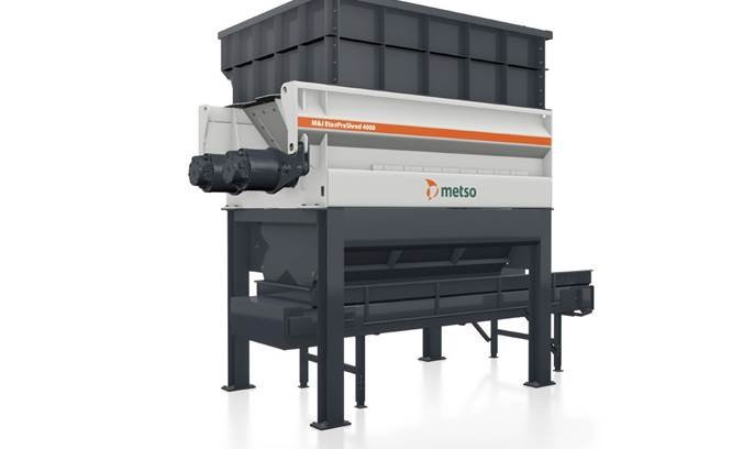 RDF, Refuse Derived Fuel, Metso Shredder