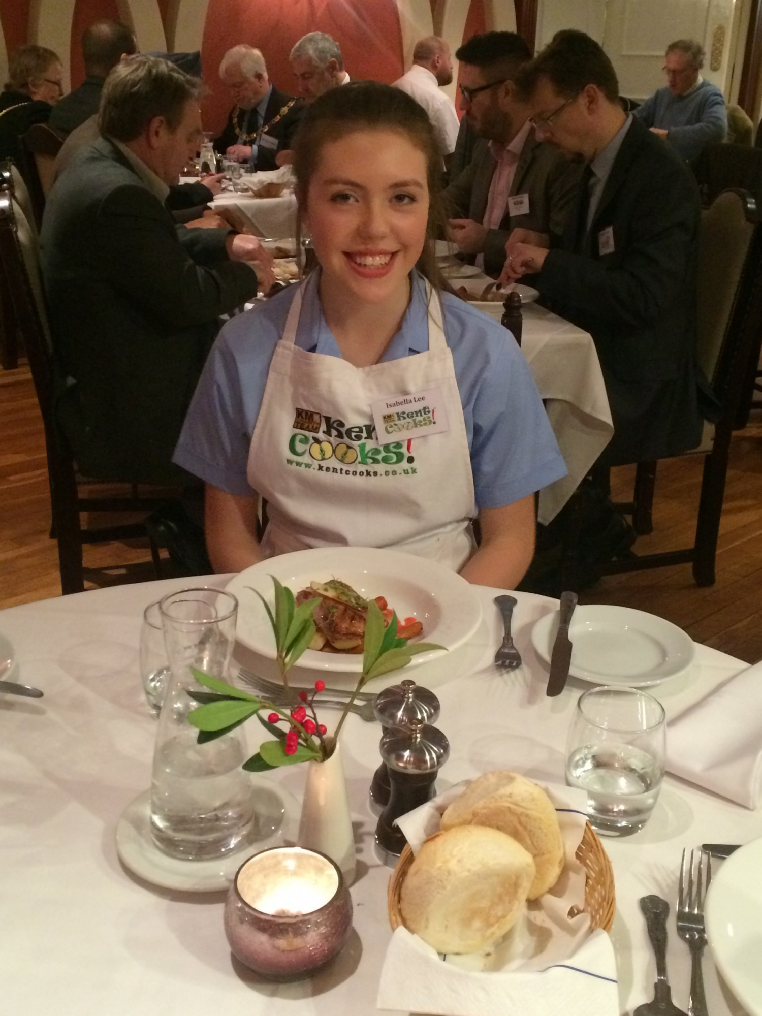 Isabella Lee, Invicta Grammar School, Maidstone wins the Kent Cooks competition