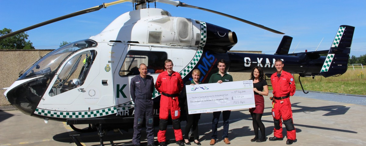 KSS Air Ambulance Cheque Presentation - Countrystyle Recycling
