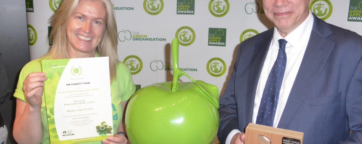 KM Charity Team awarded Green World Ambassador 2016