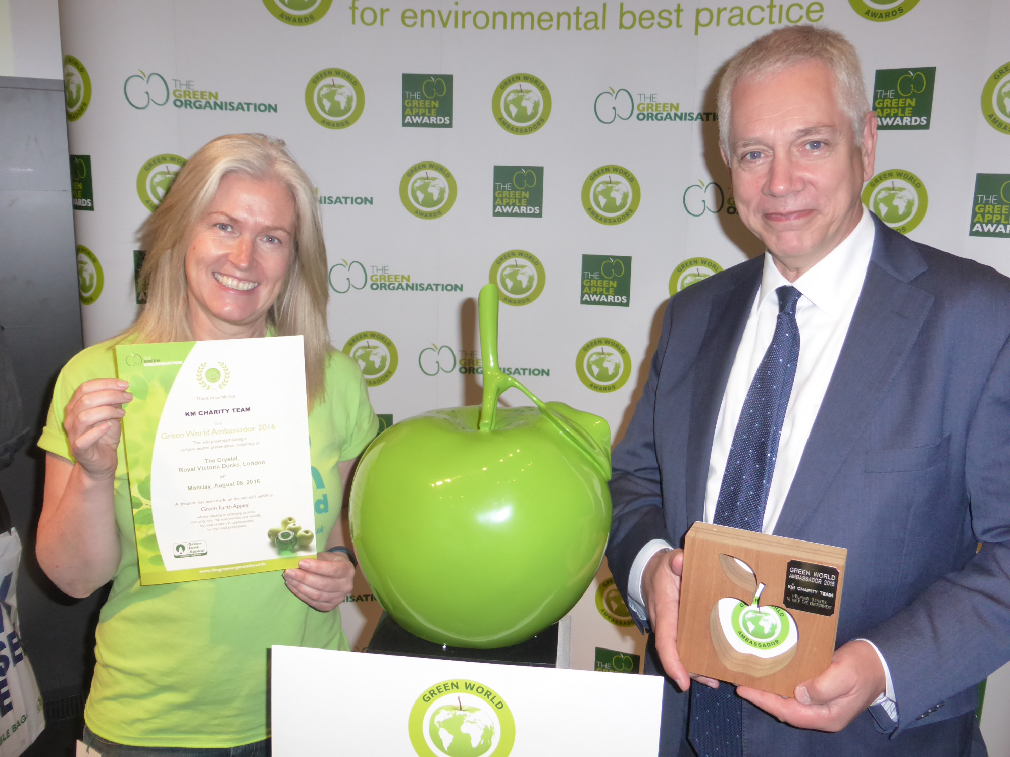 KM Charity Team awarded Green World Ambassador 2016
