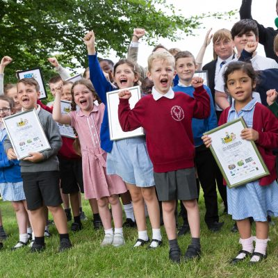 Local schools collect their awards. Green School Awards, Leeds Castle, Leeds, Maidstone, Kent.Picture Submitted by: Martin AppsKM Group has permission to sell this image via photo sales and to re-sell the image to other media for single-use publication.